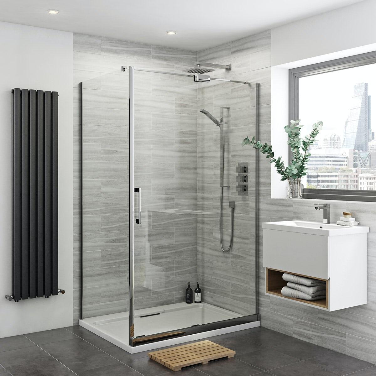 Carter 8mm easy clean right handed sliding shower enclosure
