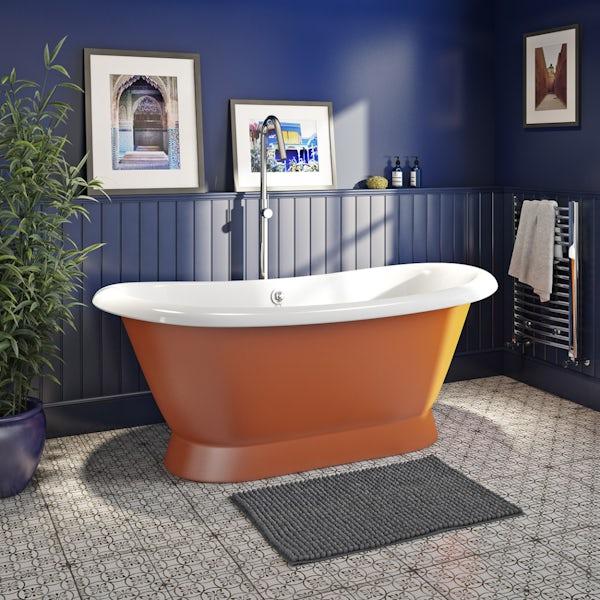 Artist Collection Orange Burst cast iron bath