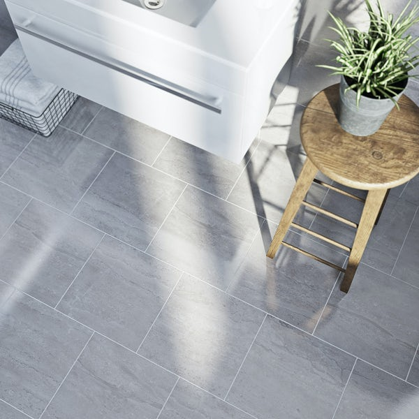 British Ceramic Tile Lux Dove Grey Gloss Tile 331mm X