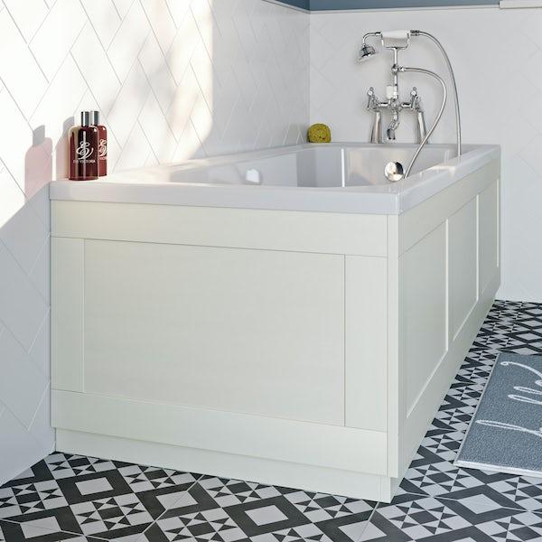 The Bath Co. Newbury white bath end panel 680mm