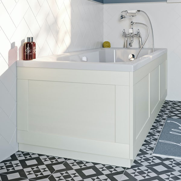 The Bath Co. Newbury white bath end panel 680mm