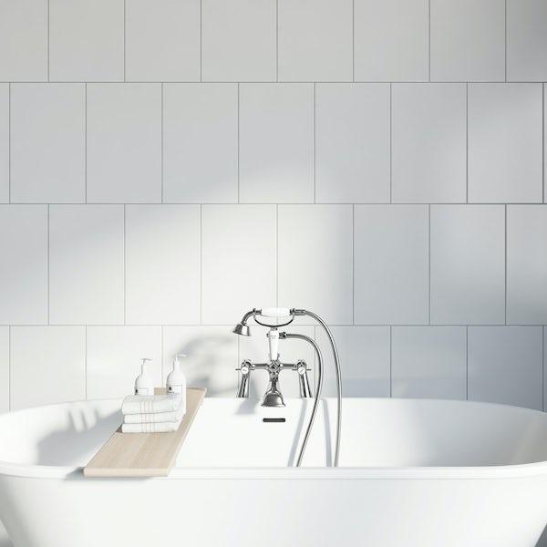 Studio Conran plain white field tile 248mm x 398mm