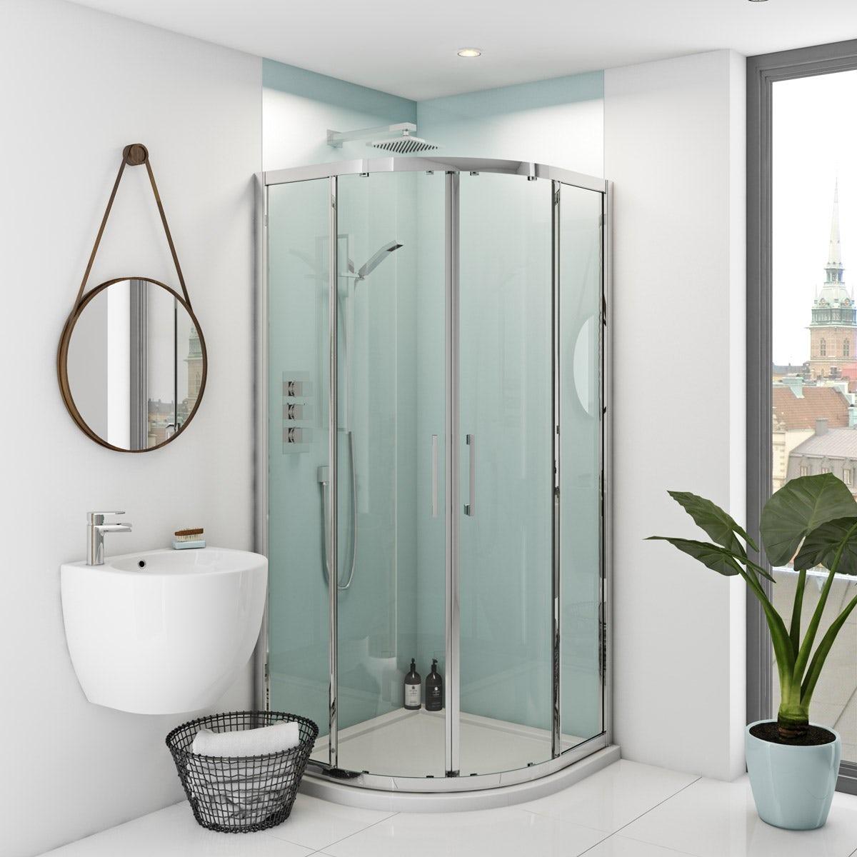 zenolite plus air acrylic shower wall panel corner