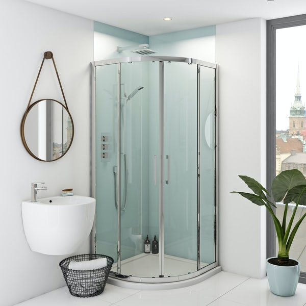 Zenolite plus air acrylic shower wall panel corner installation pack 1000 x 1220