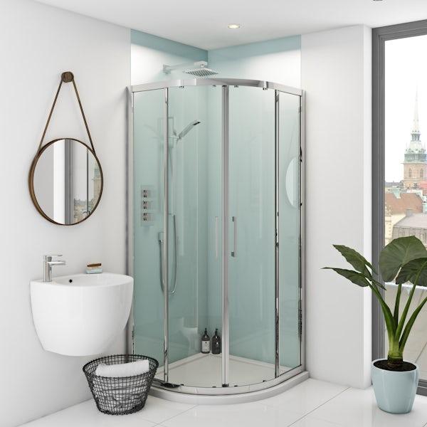 Zenolite plus air acrylic shower wall panel corner installation pack 1000 x 1220