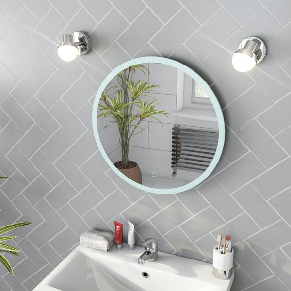 Mode Mayne round LED illuminated mirror 500mm with demister