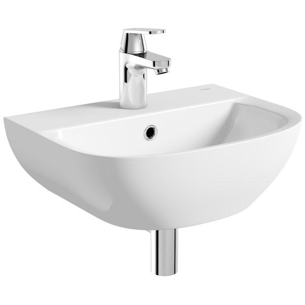 Grohe Bau 1 tap hole wall hung basin 450mm