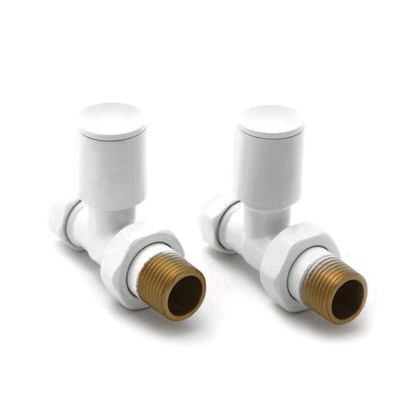 Reina Portland white straight radiator valves