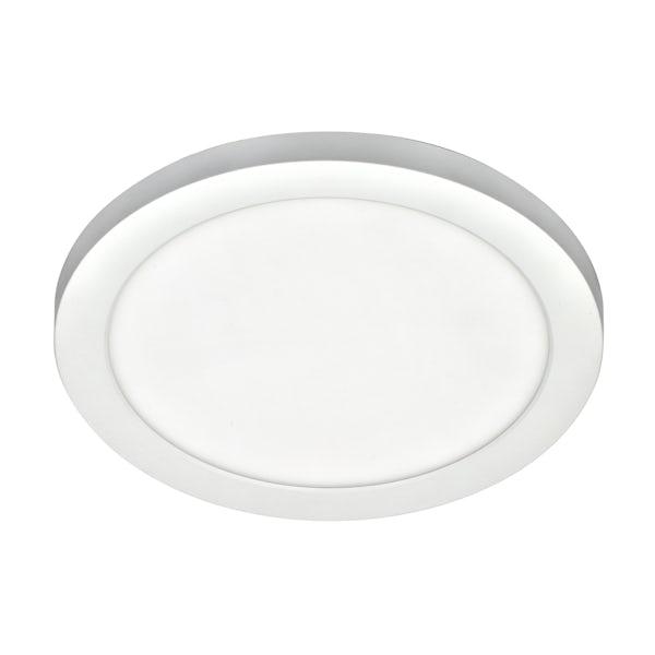 Forum Theta white large round flush bathroom ceiling light