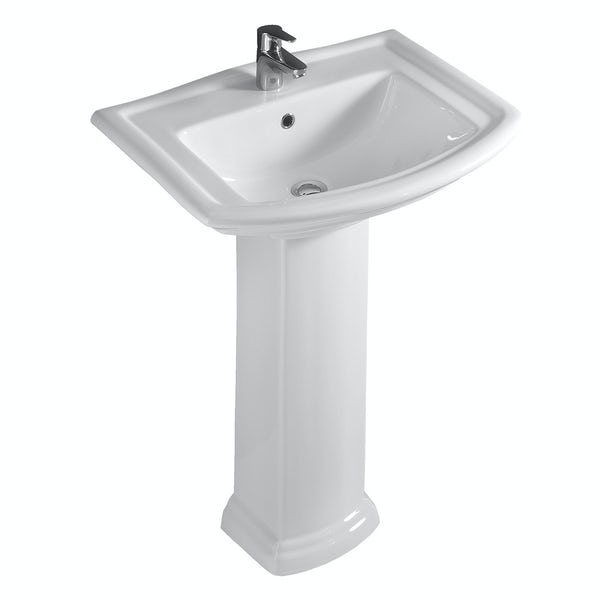 RAK Washington 1 tap hole full pedestal basin