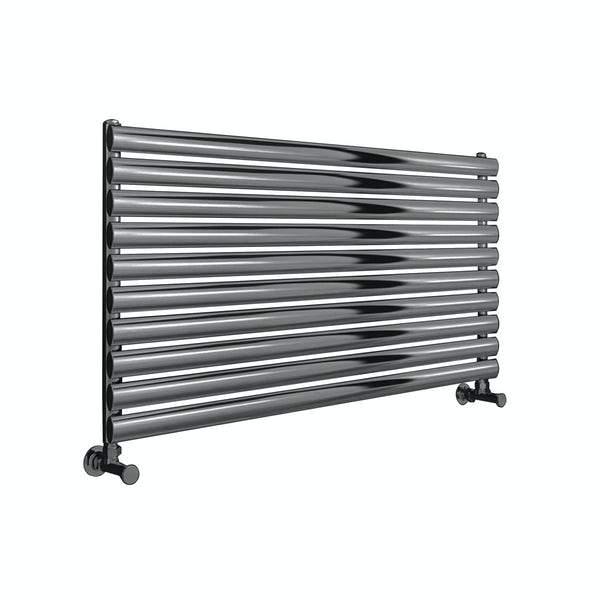 Reina Artena single brushed stainless steel designer radiator