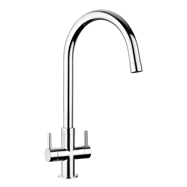 Leisure Aquanomic Monorise dual lever kitchen tap