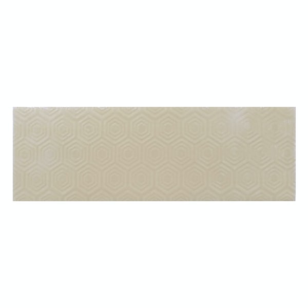 Zenith beige patterned gloss wall tile 100mm x 300mm