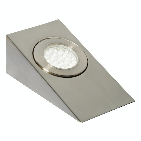 Forum Ziv 1.5w cool white LED satin nickel under cabinet light