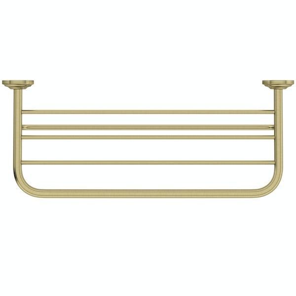 The Bath Co. 1805 gold towel shelf