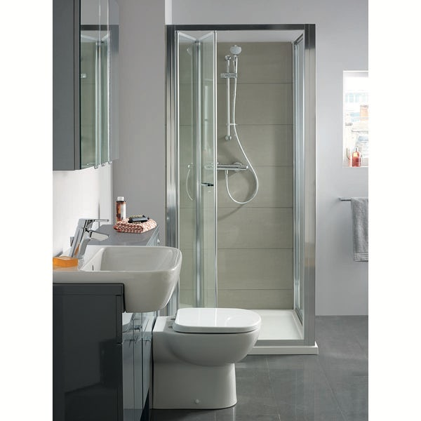Ideal Standard Tempo back to wall toilet with soft close seat
