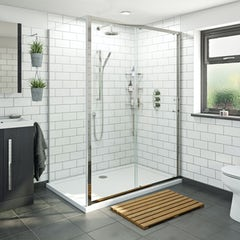 Main image for Orchard 6mm sliding shower enclosure with stone shower tray