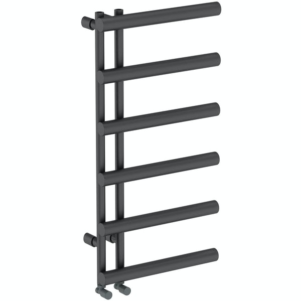 Mode Hardy anthracite grey heated towel rail 1000 x 500