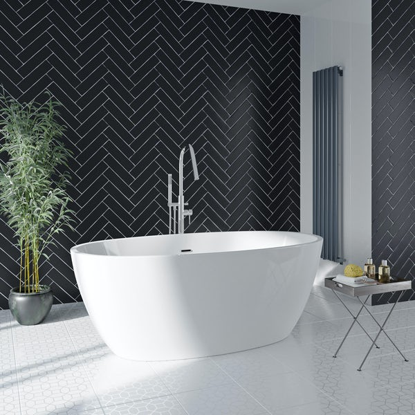 Mode Heath freestanding bath 1700 x 806