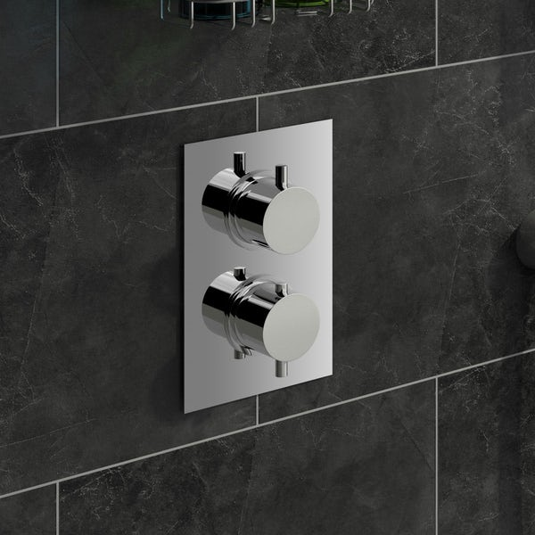 Mode Harrison square twin thermostatic shower valve