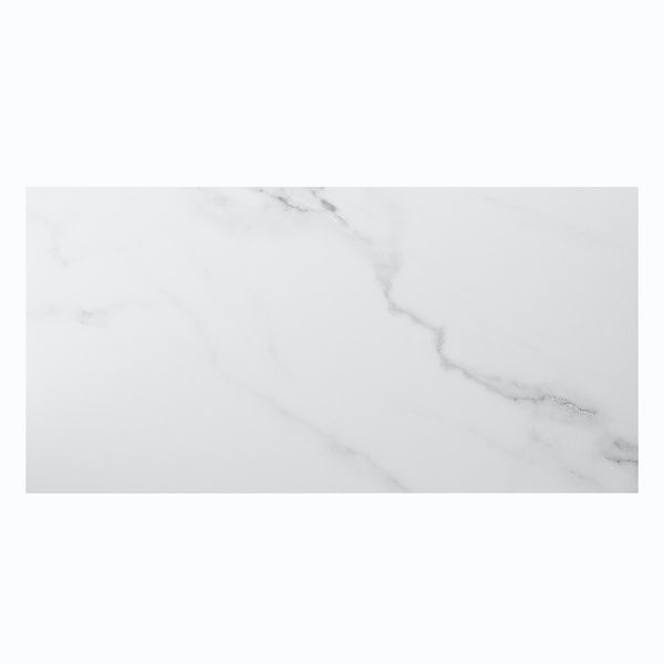 Mont Blanc white marble effect matt wall and floor tile 300mm x 600mm