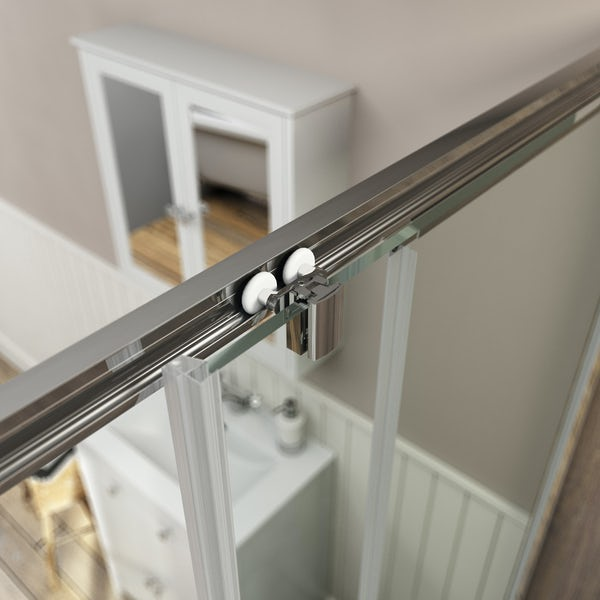 The Bath Co. Camberley traditional 8mm sliding shower door