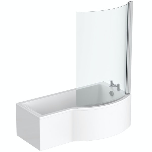 Ideal Standard Concept Air right hand shower bath with bath screen and front panel 1700 x 900