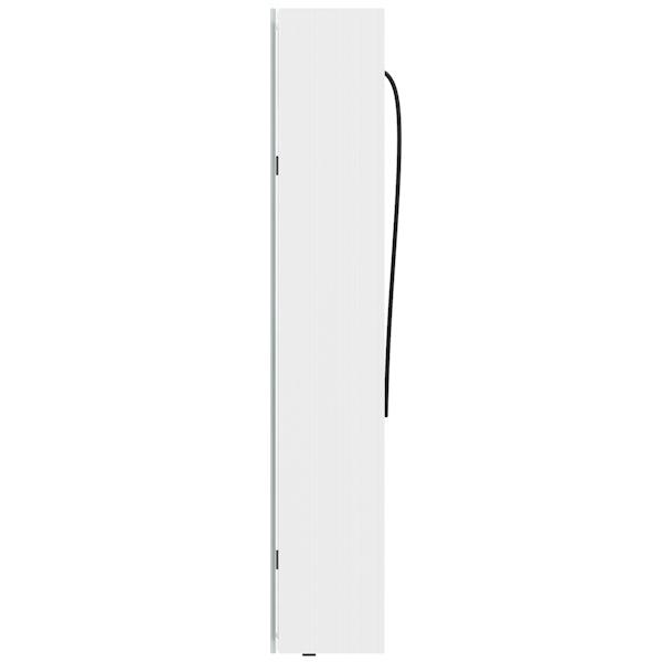 Mode Mayne LED illuminated mirror cabinet 700 x 600mm with demister & charging socket