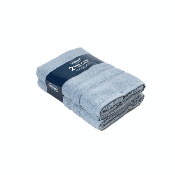 Silentnight Set of 2 Blue Hand Towel