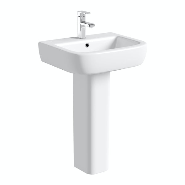 Mode Ellis full pedestal basin 560mm with waste
