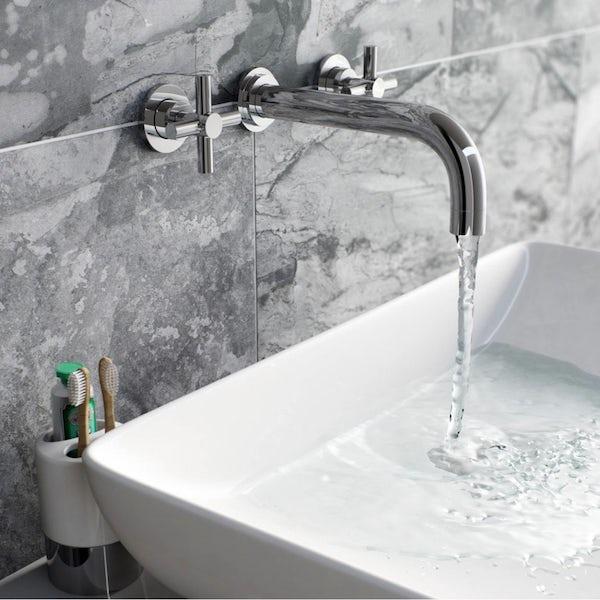 Tate Wall Mounted Basin and Bath Mixer Pack
