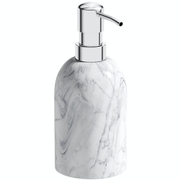 Accents Waikiki marble effect ceramic 3 piece bathroom set