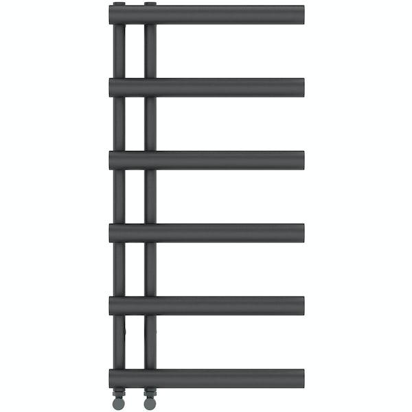 Mode Hardy anthracite grey heated towel rail 1000 x 500