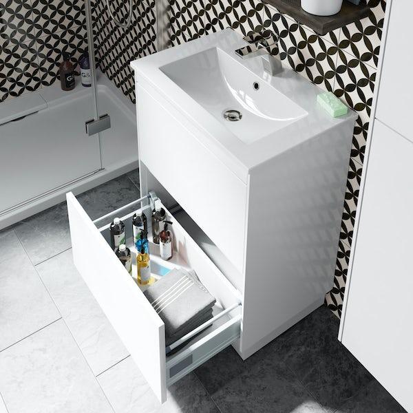 Mode Austin white vanity unit and basin 600mm