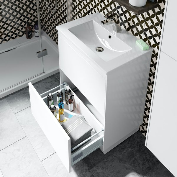 Mode Austin white vanity unit and basin 600mm