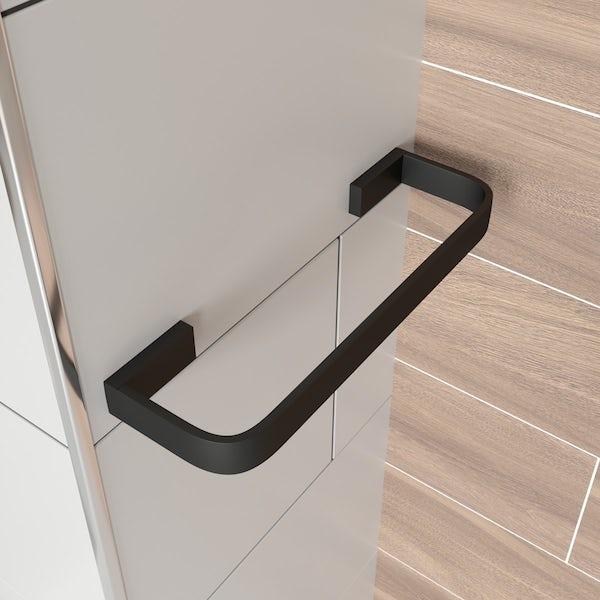 Mode Spencer black towel rail