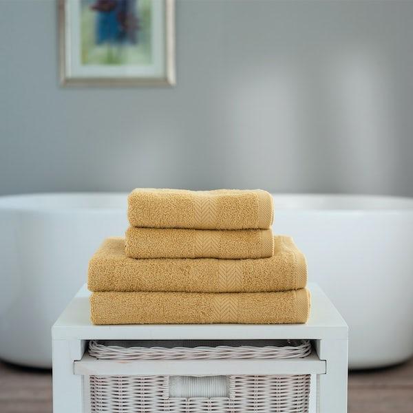 Deyongs Kingston 450gsm 4 piece towel bale saffron