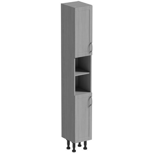 The Bath Co. Newbury dusk grey tall cabinet