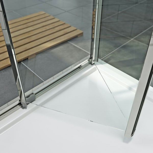 Orchard 6mm bifold rectangular shower enclosure