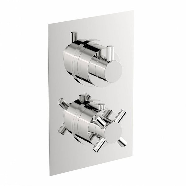 Mode Tate square twin thermostatic shower valve