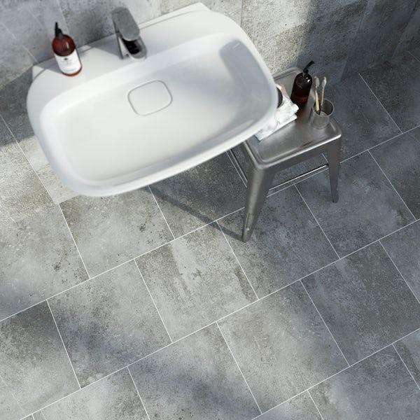 British Ceramic Tile Metropolis dark grey matt tile 331mm x 331mm