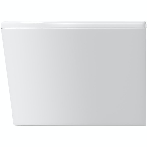 Orchard Elsdon D shaped double ended bath with panel 1700 x 750