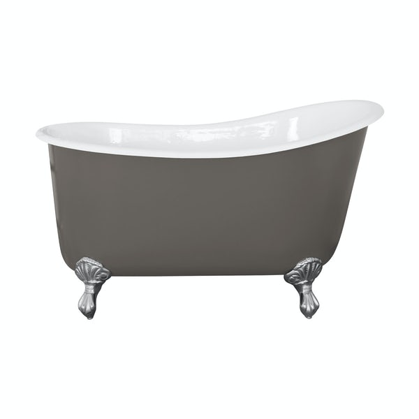 The Bath Co. Berkeley keystone grey cast iron bath