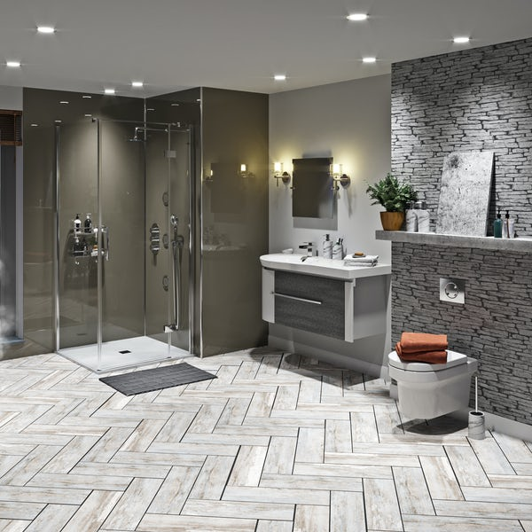 Mode Burton ice stone shower enclosure suite 900 x 900