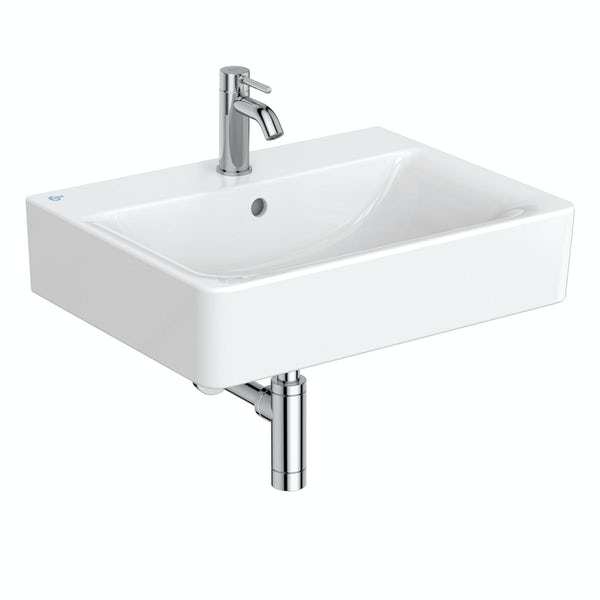 Ideal Standard Concept Cube 1 tap hole wall hung bathroom basin 600mm
