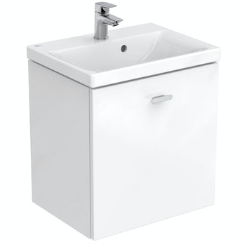 Ideal Standard Concept Space white wall hung vanity unit and basin 500mm