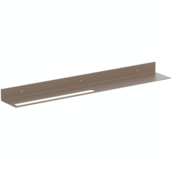Accents Mono taupe 800mm bathroom shelf