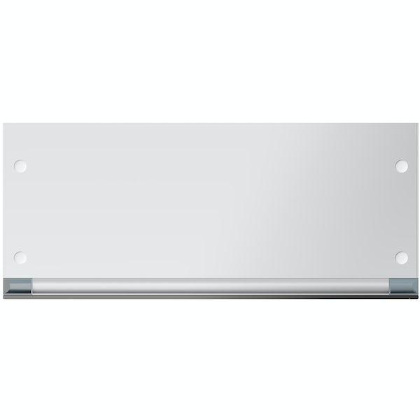 Mode Breuer slimline tall mirror cabinet 1200 x 300