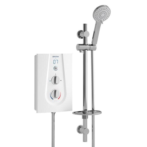 Bristan Joy thermostatic electric shower white
