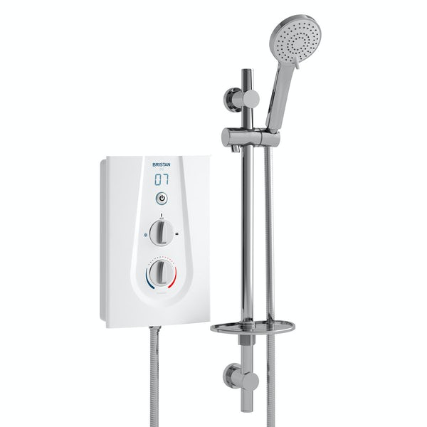 Bristan Joy thermostatic electric shower white